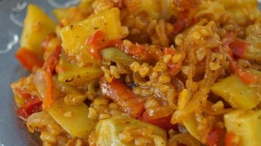 Zeytinyağlı kabak yemeği (acılı)