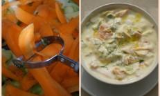 Yoğurtlu kabak ve havuç salatası tarifi