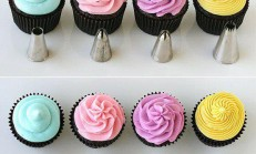 Kup Kek Süsleme Teknikleri/Krema ile kup kek süsleme