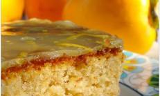 Limon soslu cennet hurmalı kek tarifi