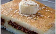 Bisküvili sütlü tatlı