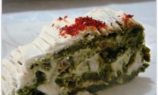 Ispanaklı rulo salata tarifi