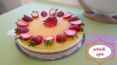Portakallı çiz kek tarifi (cheesecake)