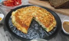 Tavada Tuzlu Kek Tarifi / Peynirli